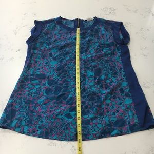 Fred David Tops - Fred David blue and pink blouse size:XS